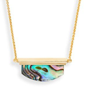 Kendra Scott adjustable Dean abalone necklace